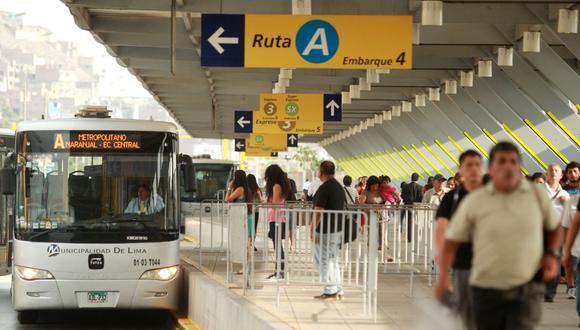 Obras de ampliación del Metropolitano están proyectadas para comenzar entre agosto y setiembre de este año y terminarían a fines del 2020. (Foto: Andina)