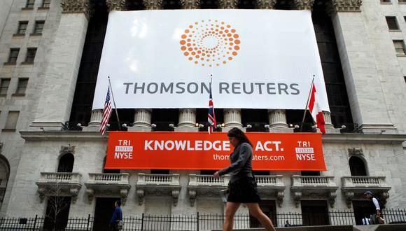 Thomson Reuters , propietaria de Reuters News, dijo que los ingresos aumentaron 2% a US$ 1,620 millones, mientras que su beneficio operativo creció más de 300% a US$ 956 millones, reflejando la venta de una inversión y otros ítems. (Foto: REUTERS/Brendan McDermid)