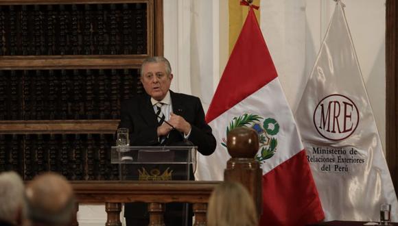 El canciller Óscar Maúrtua se presentará este lunes en el Congreso. (Foto: Anthony Niño de Guzmán / @photo.gec)