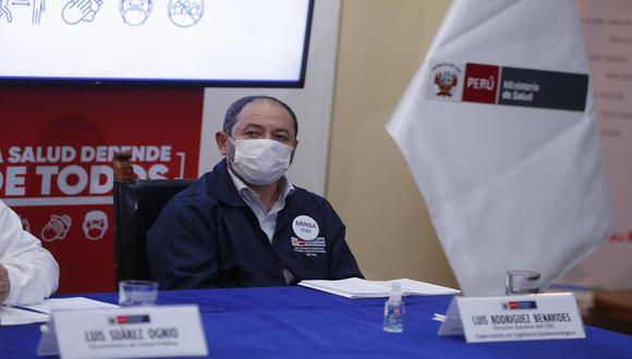 Gobierno acepta renuncia de Luis Rodríguez Benavides al cargo de jefe del Centro Nacional de Epidemiología, Prevención y Control de Enfermedades del Ministerio de Salud. (Foto: Andrés Paredes/)