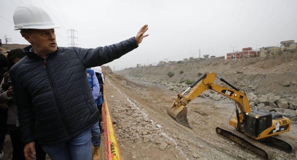 El alcalde de Lima, Jorge Muñoz, estuvo presente esta mañana en el inicio de las obras. (Foto: Piko Tamashiro/GEC)