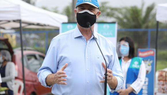 El alcalde de Lima, Jorge Muñoz, se pronunció sobre la posibilidad de que entidades privadas compren vacunas. (Foto: GEC)