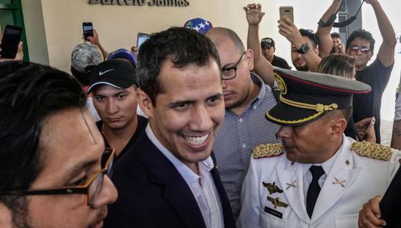 Juan Guaidó llegó a Venezuela este lunes tras una gira por países de la región. (Foto: AFP)