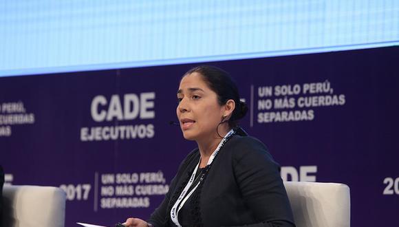 La presidenta de la Comisión de Constitución se presentó en CADE 2017. (Foto: CADE 2017)