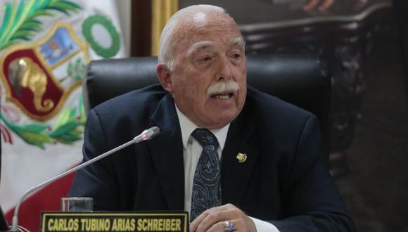 "Tubino criticó a Daniel Salaverry por haber recurrido al Poder Judicial para ""detener"" un proceso. (Foto: GEC)"