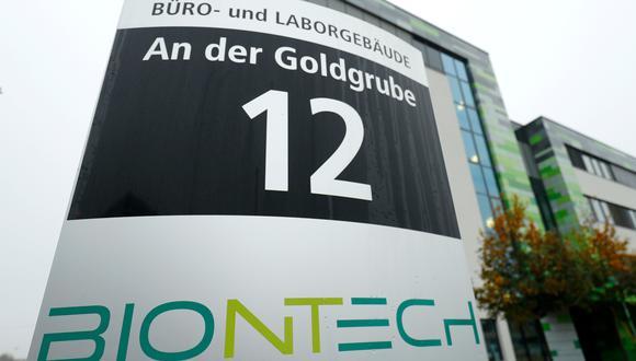 La sede de la empresa biofarmacéutica BioNTech se ve en Mainz, Alemania, el 10 de noviembre de 2020. (REUTERS/Ralph Orlowski).