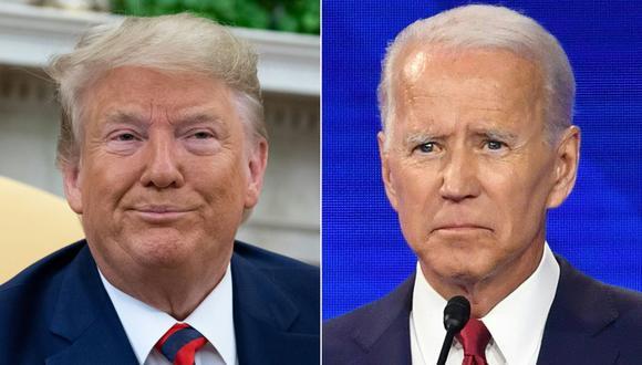Donald Trump y Joe Biden. (Foto: AFP)