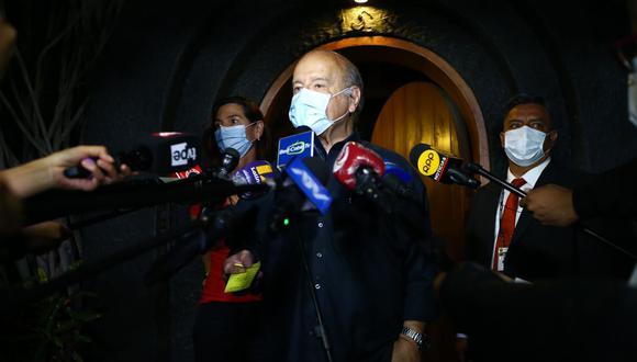 """Hernando de Soto dijo preferir que """"avancen las cifras"""" del conteo de la ONPE. (Foto: GEC)"""