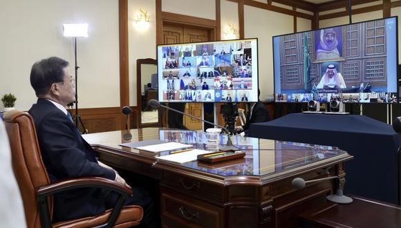 El foro celebró su sesión inaugural de forma virtual bajo la presidencia de turno de Italia. (Foto: AP)