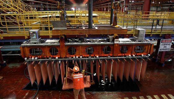 El cobre subía un 0.12% a US$  5,875 la tonelada. (Foto: Reuters)