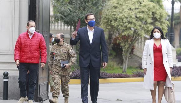 El presidente de la República sostuvo que el contenido de los audios no evidencia ningún delito. (Foto: Miguel Bellido / GEC)