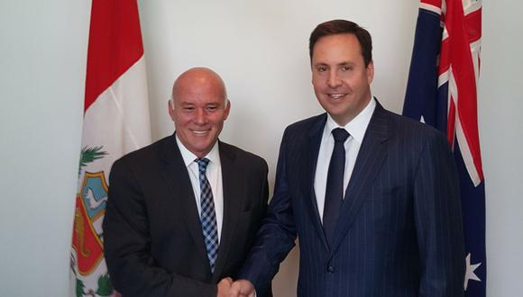 La firma del acuerdo comercial estuvo a cargo del ministro de Comercio Exterior y Turismo de Perú, Eduardo Ferreyros, y el ministro de Comercio, Inversión y Turismo de Australia, Steven Ciobo. (Foto: Difusión)