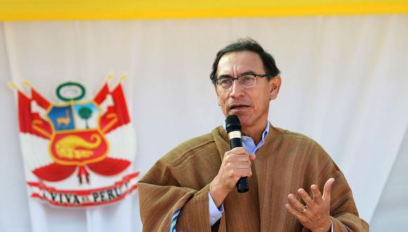 El presidente Martín Vizcarra dio un mensaje a la Nación este miércoles confirmando una cuestión de confianza sobre la reforma política. (Foto: Andina)