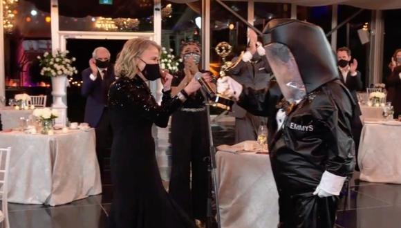Los pocos invitados a la ceremonia se realizaron test de coronavirus.  (Foto: AMERICAN BROADCASTING COMPANIES, INC. / ABC / AFP)