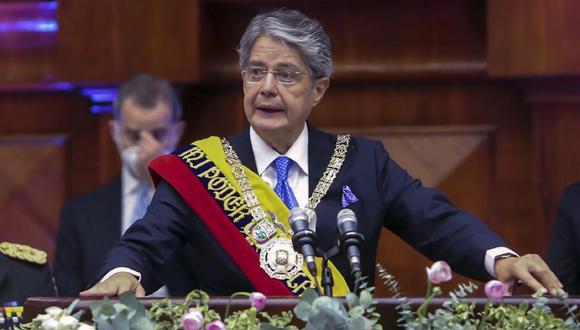 Guillermo Lasso, presidente de Ecuador. (Foto: AFP)