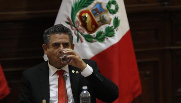 Manuel Merino de Lama se refirió a la próxima presentación del primer ministro, Pedro Cateriano, ante el Congreso. (Foto: Hugo Pérez / GEC)