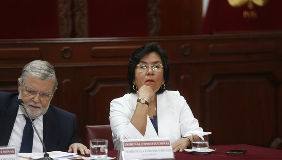 Marianella Ledesma, presidente del Tribunal Constitucional. (Foto: GEC)