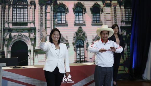 Los candidatos presidenciales Pedro Castillo y Keiko Fujimori participaron en las elecciones de segunda vuelta. (FOTO: HUGO PEREZ / GEC)