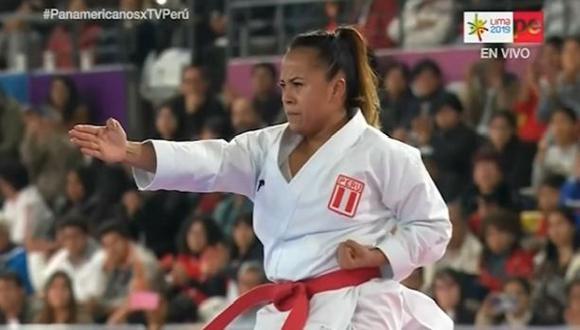 Ingrid Aranda ganó la medalla de bronce en kata individual. (Captura: TV Perú)
