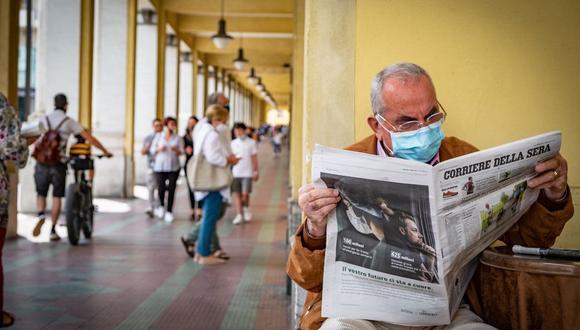 En Italia, el número de nuevos contagios se ha mantenido estable en unos pocos cientos de casos durante las últimas semanas, a pesar de una importante reapertura de la economía. (Bloomberg)
