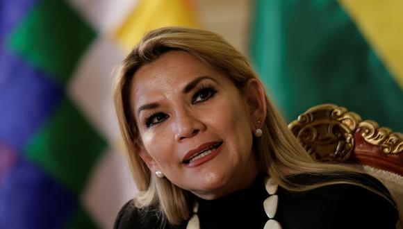 Jeanine Añez, presidenta interina de Bolivia. (Foto: Reuters)