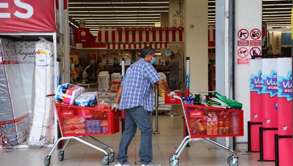 El consumo crece tras el impacto inicial de la pandemia. (Foto: GEC)