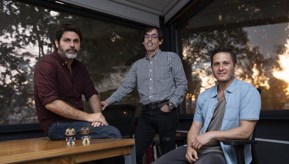 Equipo. Ricardo Barocco, Pedro José de Zavala y Mario Neumann (de izq. a der.)