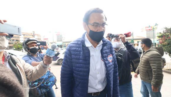 Martín Vizcarra aseguró que apelará la decisión del JEE Lima Centro 2 que lo excluye de la lista de candidatos al Congreso. (Foto: Juan Carlos Sequeiros)