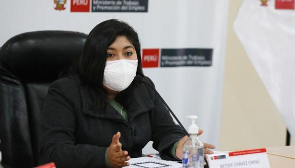 Betsy Chávez, ministra de Trabajo (Foto: Difusión)