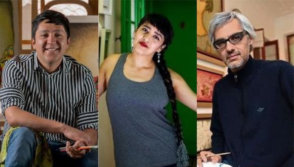 Joan Alvarado (izquierda), Sheila Alvarado y Fito Espinosa (derecha) narran sus experiencias artísticas durante la pandemia del coronavirus. (Foto: GEC)