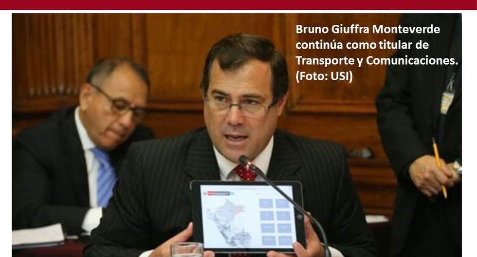 Foto 14 | Bruno Giuffra continúa como titular de Transporte y Comunicaciones. (Foto: USI)