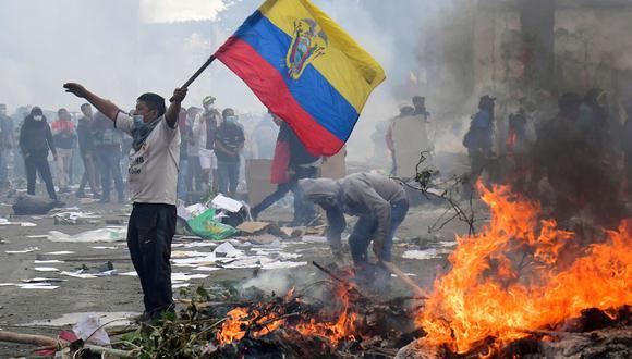 Imágenes de las últimas protestas sociales en Ecuador (Foto: AFP)