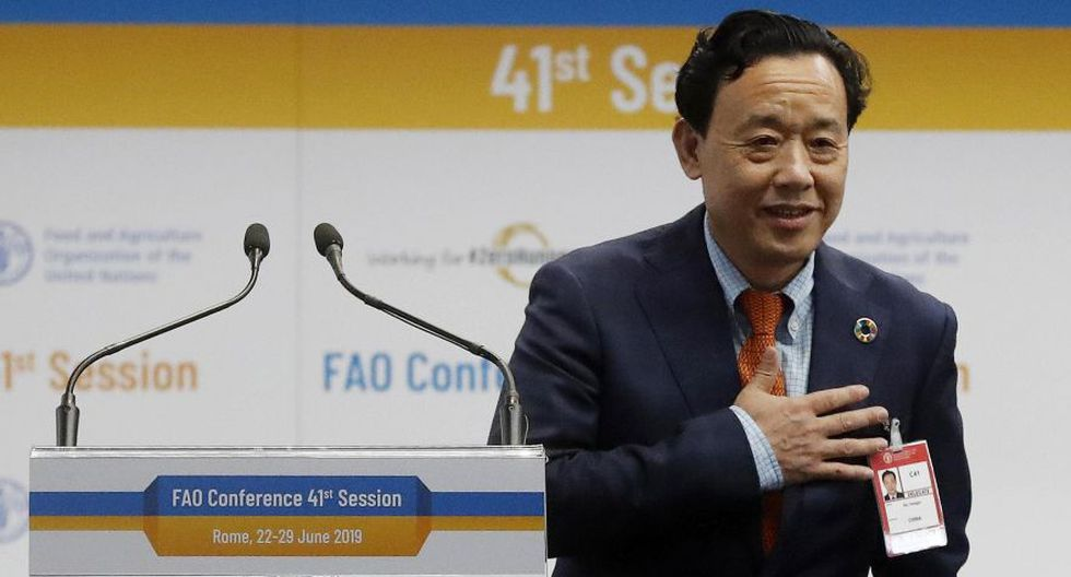 El director chino de la FAO, Qu Dongyu. (Foto: EFE)