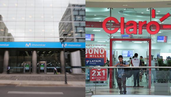 Las multas contra Movistar ascienden a S/ 1,024,800 mientras que las de Claro a S/ 2,742,600. (Foto composición: GEC)