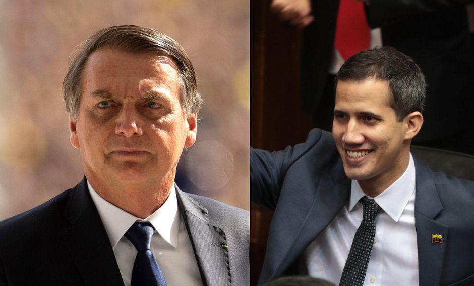 Brasil emitió una declaración en la que reconoce a Juan Guaidó como presidente legítimo de Venezuela. (Foto: Composición / EFE)