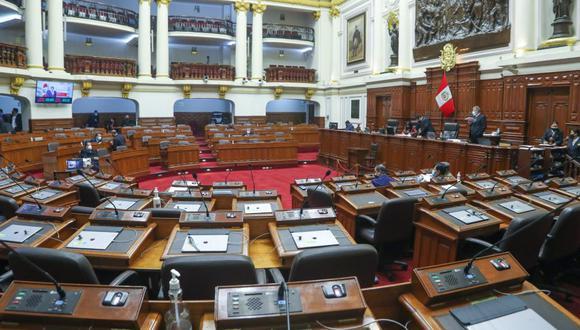 El pleno del Congreso está llevando a cabo hoy viernes 16 de julio su última sesión de la cuarta legislatura. (Foto: Congreso)