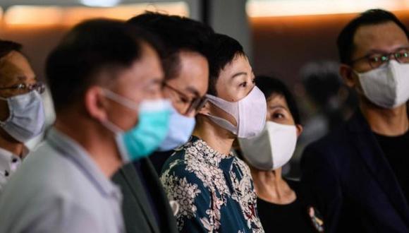 Activistas chinos. (Foto: AFP)