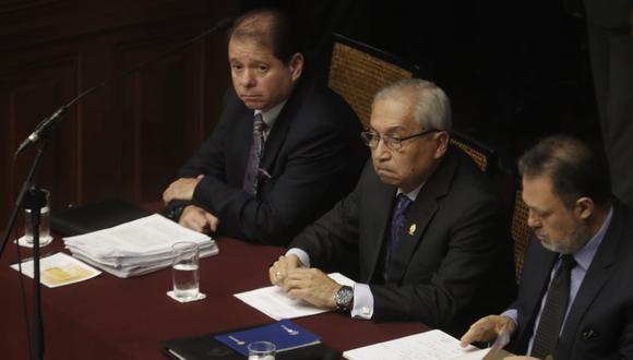 Pedro Chávarry indicó que reunión no puede calificar como un hecho irregular. (Foto: Renzo Salazar / GEC)