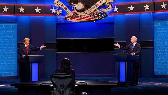 El debate entre Donald Trump y Joe Biden en Nashville fue tenso, con acusaciones de ambos lados, pero se respetaron los tiempos. (Foto: EFE/EPA/SHAWN THEW)