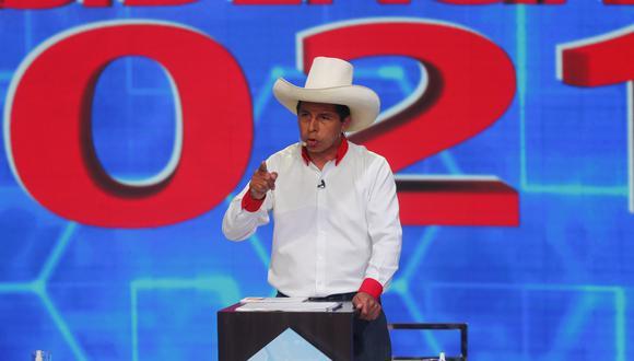 El candidato por Perú Libre, Pedro Castillo, recorrió varias zonas de Cajamarca. (Foto: GEC)