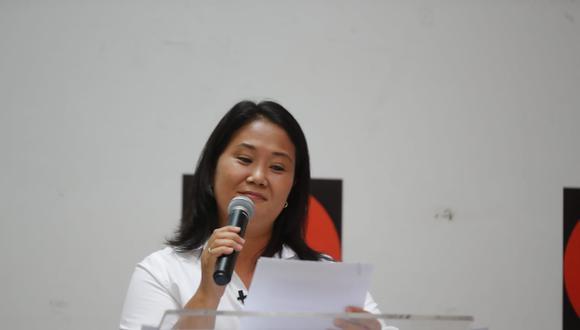 Fujimori Higuchi quedó en el segundo lugar en las votaciones del domingo, según el conteo de la ONPE a más del 99% de las actas procesadas. (Foto: Giancarlo Avila /GEC).