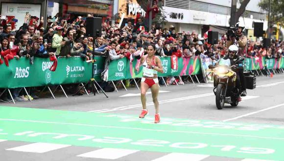 Gladys Tejeda cumplió con una gran maratón. (Foto: Gian Ávila / GEC)