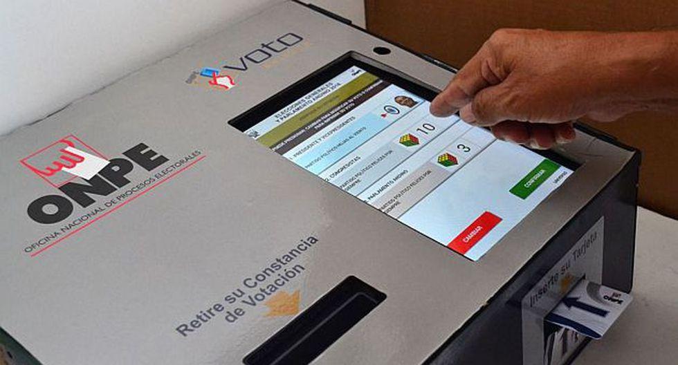 El voto electrónico se realizará en 39 distritos. (Foto: Andina)