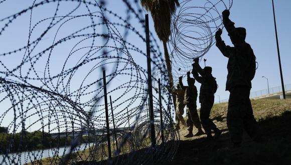 Militares en frontera de México. (Foto: AP)