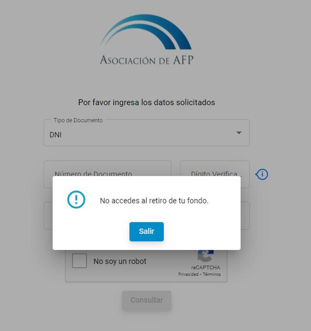 No todos califican para el retiro de la AFP (Foto: Captura)