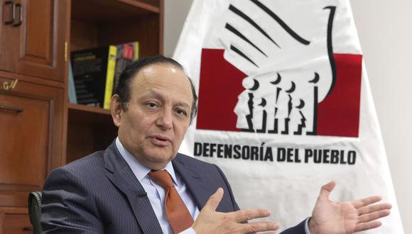 El defensor del Pueblo, Walter Gutiérrez, afirmó que se debe evitar que los colegios quiebren ante la crisis económica ocasionada por el Covid-19. (Foto: GEC)