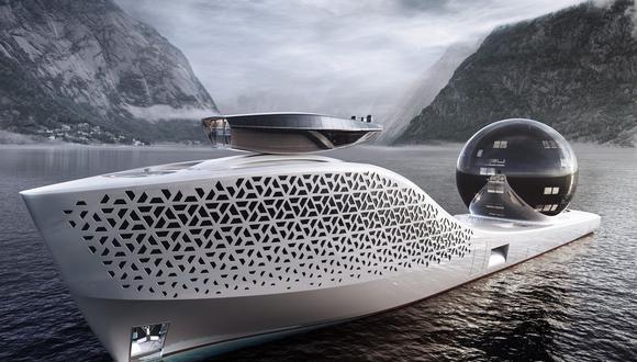 El barco, llamado Earth 300, fue diseñado por el especialista en superyates Iván Salas Jefferson. (Bloomberg)