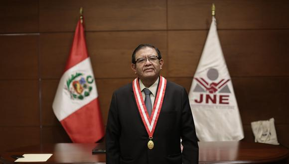 Jorge Luis Salas Arenas tomó las riendas del JNE en plena pandemia (Foto: Anthony Ramírez Niño de Guzmán/GEC).
