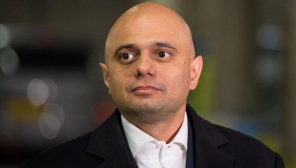 El ministro británico de Sanidad, Sajid Javid. (PA vía BBC Mundo)