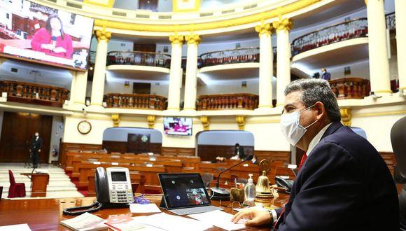 El pleno virtual del Congreso debatió, como primer punto, cambios a la elección de miembros del TC. (Foto: DIfusión)